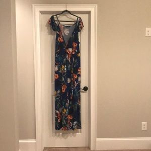Tropical Print Maxi Dress- plus